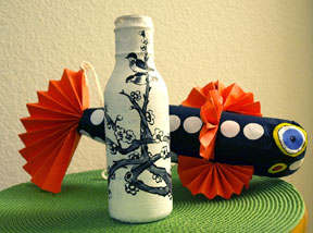 Bottle decorated by Xirui