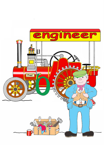Ernest with his Traction Engine