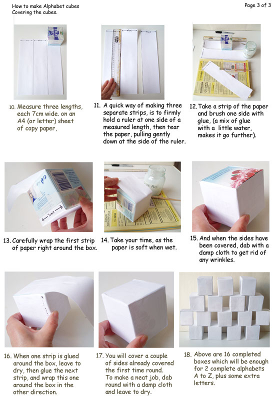 How to make alpha boxes page 3