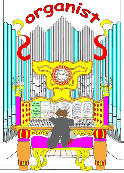 Obediah plays a grand organ