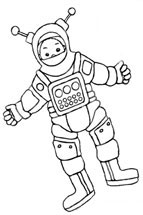 astronaut to colour in