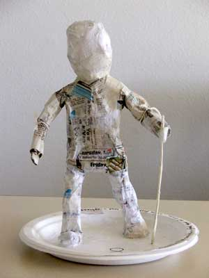 Basic paper figure (partially covered with tissue)