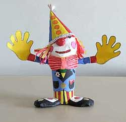 Clown made from a paper cup
