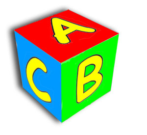 Learning Letters ABC cube