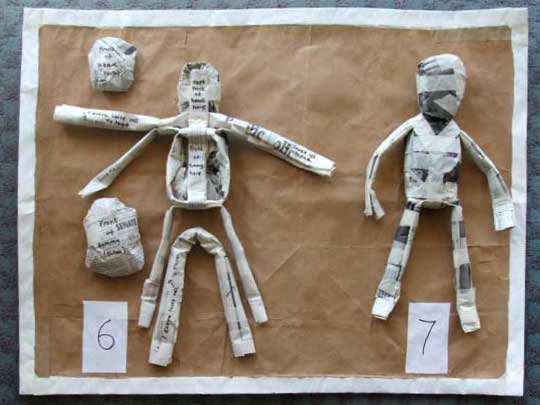 Instructions for making a paper figure steps 6 and 7