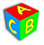 Coloured Letter cube