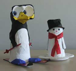 Penguin made from an egg box and a paper cup