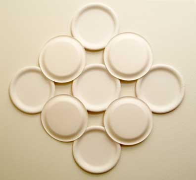 Wall hanging made from Nine paper plates