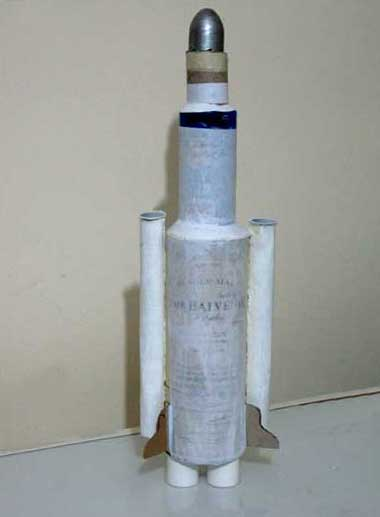 The Rocket covered with white paper