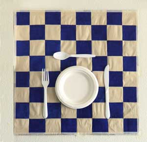 3D table setting for the wall